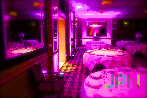 Pink mood lighting hire in London and essex